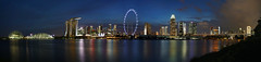 Face of Singapore (ah.b|ack) Tags: sony a7ii a7mk2 zeiss batis 25mm f2 cityscape singapore gardensbythebay marinabaysands flyer central business district night lights sunset panorama