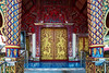 You Missed A Spot (Matt Molloy) Tags: mattmolloy photography watkhuankhama buddhist temple fancy details intricate red blue gold colourful decorations pillars diamonds squares flowers pieces tiles lines mosaic doors guards swords religion chiangmai thailand lovelife