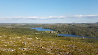 Above Jotka mountain lodge, Finnmarksvidda