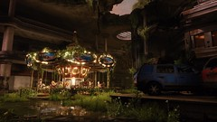 The Last of Us Remastered - Left Behind (Matze H.) Tags: the last us remastered left behind uhd 4k screenshot playstation 4 pro carussel lights dark ruin ellie water reflection mall destroyed apocalypse