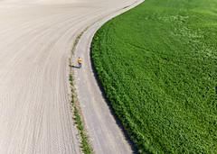 (Svein Skjåk Nordrum) Tags: drone djiair above perspective road field curve air