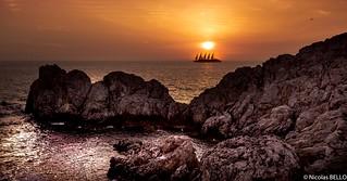 Sunset phare Punta Caréna - Capri Italie