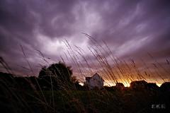 20180621_210411_02_L_4K+ (jmi.eck) Tags: herbes grass soleil couchant ciel nuages mauve orange sombre sunset sky clouds purple dark pentaxk1 irix15mmf24blackstone aficionados