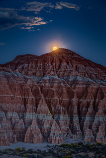 Moon Rise at Cathedral Gorge