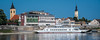 2018 - Hungary - Mohács - Mohács-Újmohács Ferry (Ted's photos - For Me & You) Tags: 2018 cropped hungary mohã¡cs nikon nikond750 nikonfx tedmcgrath tedsphotos vignetting blue bluesky danuberiver danube church churchspire hotelszentjános hotelszentjánosmohacs mohacshungary ship river ferry mohacsferry