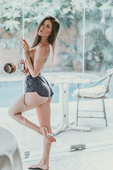 Paloma (alcure85) Tags: ifttt 500px portraits young beautiful beauty brunette girl gorgeous house interior long hair sao paulo sensual sexy skinny tattoo underboob woman topless pool longhair saopaulo