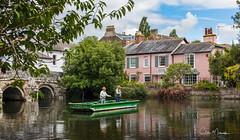Gone Fishing (clive_metcalfe) Tags: fishing christchurch dorset avon uk men reflections bridge