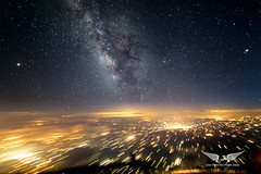 Milky Way at 39,000 feet (gc232) Tags: night sky perseids milky way milkyway live from flight deck golfcharlie232 livefromtheflightdeck pilots view altitude fly flying