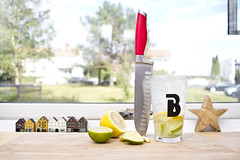 Afternoon snack (Paal Lunde) Tags: afternoon snack lemons limes knife sodastream sparkling water photography paal lunde paallundecom 24mm canon stm food foodie