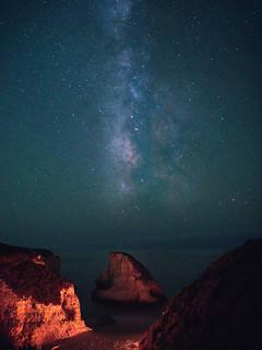 Milky Way over Shark Fin Cove