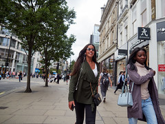 Oxford Street. 20180815T12-59-36Z (fitzrovialitter) Tags: peterfoster fitzrovialitter city camden westminster streets rubbish litter dumping flytipping trash garbage urban street environment london fitzrovia streetphotography documentary authenticstreet reportage photojournalism editorial captureone olympusem1markii mzuiko 1240mmpro microfourthirds mft m43 μ43 μft geotagged oitrack exiftool girl candid portrait streetportrait