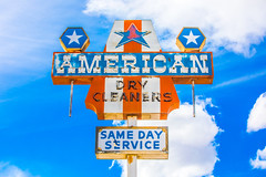 American (Thomas Hawk) Tags: america americandrycleaners usa unitedstates unitedstatesofamerica wyoming clouds drycleaner neon neonsign lander us fav10 fav25 fav50