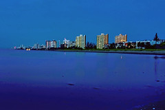 City of Pompano Beach, Broward County, Florida, USA (Photographer South Florida) Tags: pompanobeach city cityscape urban downtown skyline browardcounty southflorida density centralbusinessdistrict skyscraper building architecture commercialproperty cosmopolitan metro metropolitan metropolis sunshinestate realestate fishingpier atlanticocean hillsborolight bluehour reflection