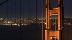 San Francisco (andre adams) Tags: travel buildings urban architecture cityscape lights traffic longexposure perspective cinematic citylights nightscape marinheadlands california sanfrancisco batteryspencer goldengatebridge twinpeaks bridge