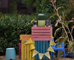 a pastel lemonade stand, False Creek (roaming-the-planet) Tags: pastelcolours falsecreek vancouversummer lemonadestand