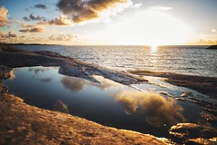 (Frank S. Schwabe) Tags: sunset sea shore summer sun sky coast clouds canon coastal brunsvika nordmøre norge norway reflection water wideangle rocks