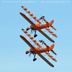 8028 Wingwalkers (photozone72) Tags: eastbourne airshows aircraft airshow aviation canon canon7dmk2 canon100400f4556lii 7dmk2 wingwalkers aerosuperbatics boeing stearman biplane