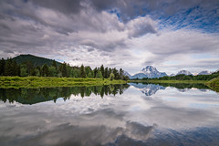 Oxbow Bend (Jeremy Duguid) Tags: grand teton national park tetons wyoming travel nature landscape reflection reflections mountain mountains clouds sunrise morning sony jeremy duguid west western usa outdoor outdoors hike hiking