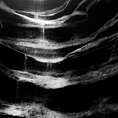 In Canyons 262 (noahbw) Tags: d5000 frenchcanyon nikon starvedrockstatepark abstract blackwhite blackandwhite bw canyon erosion light monochrome natural noahbw rock shadow spring square stone water waterfall landscape