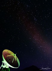 Satellite dish under the starry sky (Brambilla Simone Photography) Tags: antenna array astro astronomy black blue business communication constellation cosmic cosmos dark digital dish earth equipment exposure galaxy internet light media milky nature network night observatory panoramic parabolic photography planet radar radio receiver research satellite search signal sky space star starry stars summer technology telescope television under universe wave way