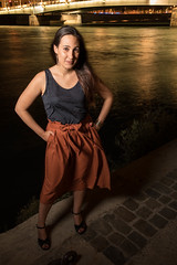 a mid summer evening on the bank of the Rhône (Claude Schildknecht) Tags: mariona bergesdurhône europe france guillotière lyon makeupartist maquilleuse marion places