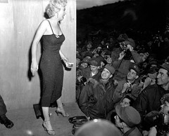 Marilyn Monroe, Touring Korea to Entertain U.S. Troops, 1954 (classic_film) Tags: marilynmonroe korea war movie 1954 1950s fifties cinema film cine actress classic vintage nostalgic nostalgia hollywood celebrity sexsymbol actriz actor retro old ephemeral entertainment sensuous sexy sex blonde hair hairstyle mujerbonita hübschesmädchen hübschefrau mujer frau color clothing clothes fashion niñabonita schauspielerin woman beauty beautiful prettygirl pretty aktrice actrice película añejo época clásico atriz schön kleidung ropa lady jahrgang alt oll