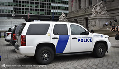 A US Department of Homeland Security FPS Tahoe (nyfrp) Tags: new york city ny state nys nyc manhattan downtown south ferry bowling green subway station museum court united states us department homeland security dhs customs enforcement federal protective services fps fpiu ford police interceptor utility explorer 2016 chevrolet chevy tahoe 2012 ssv ppv