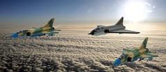 Nuclear Triad (John Moffatt) Tags: lego planes bomber interceptor high altitude sky collage iv mirage but fat pepe 15