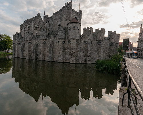 The Gravensteen  Reflected - Gent, Belgium