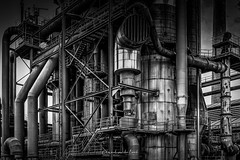 Landschaftspark 2018 (EBoss Fotografie) Tags: landschaftspark duisburg industrial plant germany ruhrvalley blackandwhite blackwhite dark light smeltingplant spaceship art soe twop hdr dramatic factory urbex