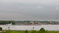 Barge on the Mississippi River (string_bass_dave) Tags: mississippiriver davenport ship boat ia iowa unitedstates barge tug flickr neponset illinois us