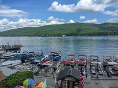Lake George, New York (MacabreX) Tags: 2015 adirondack adirondackmountains all boat lake lakegeorge mountain newyork parasail tonguemountainrange water