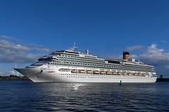 P1660313 (Lumixfan68) Tags: schiffe ships cruises kreuzfahrtschiffe costa pacifica kiel hafen port kieler förde