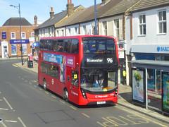 SLN 12384 - YX16OGZ - WELLING HIGH STREET - SAT 11TH AUG 2918 (Bexleybus) Tags: high street adl dennis enviro 400 mmc welling kent stagecoach london selkent tfl route 96 12384 yx16ogz