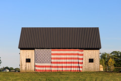 American Pride (A_Renee_88) Tags: american fuck yeh pride barn flag sunset orange field farm awesome inspiring trump maga make america great again