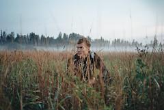Morning. (PeeterTomson) Tags: nikon l35af2 pointandshoot vintage analogue film 35mm kodak colorplus 200 nature field morning fog