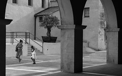 Playful evening (▪ Paul Blanchard ▪) Tags: corsica streetphotography bonifacio colours blackandwhite people roadsign dog oldstreet stonewall light shadow contrast architecture lamppost broken dirty street photograph mother kid cat twilight colour lampost shadows silhouette stars field winter lowkey brickwall mistymoutain mist waterdrops leaves nature scotland landscape ajaccio pyrenees lacoo waterfall oldpeople
