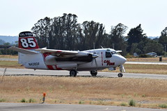 N438DF S-2F3AT Tracker - CAL FIRE (eigjb) Tags: sonoma county airport santa rosa ksts usa aircraft airplane turboprop aeroplane aviation plane spotting 2018 n438df s2t turbo tracker calfire grumman fire tanker dc3 douglas n25646 tanker85 military aerial fighting bomber 151640 department forestry protection dc3a stored s2f3at s2f california marsh