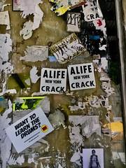 A LIFE - NYC (verplanck) Tags: poster graffiti streetart chelsea manhattan