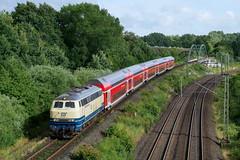 P1610717 (Lumixfan68) Tags: eisenbahn loks baureihe 218 conny dieselloks deutsche bahn db regio südostbayernbahn westfrankenbahn doppelstockzüge