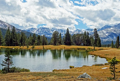 Storm Moving Over Ellery Lake, Yosemite Np 2016 (inkknife_2000 (9.5 million views)) Tags: easternsierranevada yosemitenationalpark california usa landscapes mountains dgrahamphoto rocks tuolumnemeadow spring granite granitedomes skyandclouds fluffyclouds ellerylake fallentrees reflection