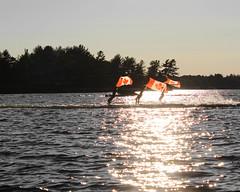 3 Flags (O'Quinn Photo) Tags: waterskiers gravenhurst ontario cottagecountry muskokas oquinn canada lake water silhouettes shadows lakemuskoka
