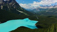 In the Land of Make Believe... (SeattleEmpress) Tags: peytolake banffnationalpark canadianrockies glaciallake timelapse