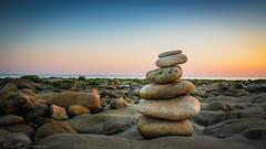 Eternity (Thieu | Photography) Tags: wideangle zen sunset longevillesurmer sony lowtide sea a7riii colorful beautiful pebbles sky sel1635gm rock beach trip seaside awesome travelling seascape