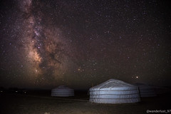 Ger under the starry sky (wanderlust_97) Tags: stars milkyway ger desert gobi mongolia