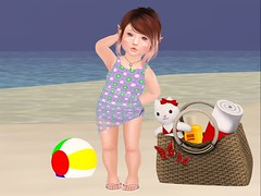 Izzie Bathing Suit & Wrap W/Flip Flops (twinkletoesfashion) Tags: toddleedoo td toddleedoobaby bebe bebebody bento tinytrinkets preciouslilangels