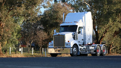 Random WAGGA ~ White (4/7) (Jungle Jack Movements (ferroequinologist)) Tags: kenworth volvo euro 5 600 kreuger todiam lenssec wagga nsw new south wales sturt hp horsepower big rig haul haulage freight cabover trucker drive transport carry delivery bulk lorry hgv wagon road highway nose semi trailer deliver cargo interstate articulated vehicle load freighter ship move roll motor engine power teamster truck tractor prime mover diesel injected driver cab cabin loud rumble beast wheel exhaust double b grunt white