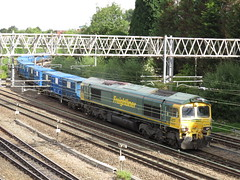 66602 on Bredbury R.T.S. (Flhh) - Runcorn Folly Lane (Flhh) at Heaton Norris Stockport 10/08/2018 (37686) Tags: 66602 bredbury rts flhh runcorn folly lane heaton norris stockport 10082018