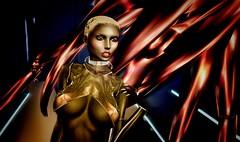 Trapped (sunny.hanly) Tags: secondlife sl virtualworld game fashion originals art outfit clothes gem gems blond aviglam choker maitreya lara photography peace avatar digitalart digitalphotography mesh bento laq gaia tears latex fear