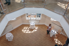 From the Whispering Gallery (PhredKH) Tags: architecture building canonphotography fredkh photosbyphredkh phredkh splendid thedome theworthingdome windows worthing indoors sea sky interior tables chairs people windowlight